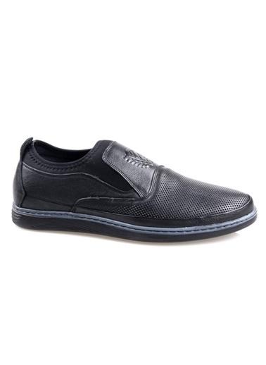 Tardelli 9502 Siyah Ortapedik Erkek Deri Ayakkabı Siyah